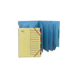 ELBA Porte-revues en PVC soudé, dos de 10 cm 32x24cm, livré à plat. Coloris Blanc