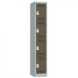 EXACOMPTA Module de classement BIG-BOX 4 tiroirs Noir/Bleu glacé - Dim. 27,8 x 26,7 x 34,7 cm