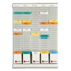 VANERUM Chevalet de conférence Mobile Gris, effaçable à sec et magnétique, L66,5 x H195 x P66 cm