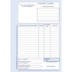OXFORD Répertoire reliure brochure 14,8x21 cm 192 pages petits carreaux 5x5 papier 90g