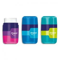 MAPED Taille crayons 1 usage CLEAN GRIP coloris assortis : Bleu, Violet,Orange, Vert, Turquoise