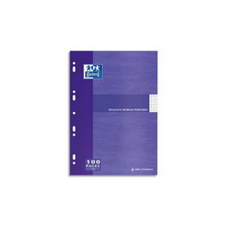 CLAIREFONTAINE Feuillets mobiles 21x29,7 cm 100 pages grands carreaux blancs 90g - Sous étuis carton