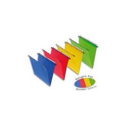 EXACOMPTA Paquet 5 chemises à poche en carte lustrée 265g. Pour format A4. Coloris assortis vifs